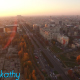 Aerial View Of Bucharest City Center At Dusk 7 - VideoHive Item for Sale