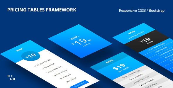 Pricing Tables - Responsive CSS3 | Bootstrap Framework