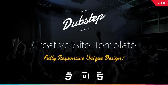 Dubstep - Creative Site Template