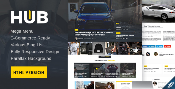 Hub Magazine HTML5 Template