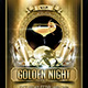 Golden Night (Flyer Template 4x6) - GraphicRiver Item for Sale