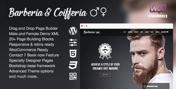 Barberia | Salon Responsive WordPress Theme