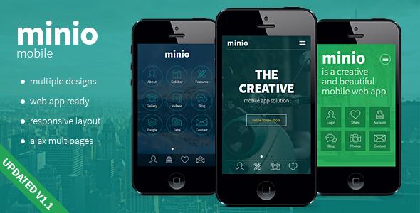 minio - HTML Mobile Template