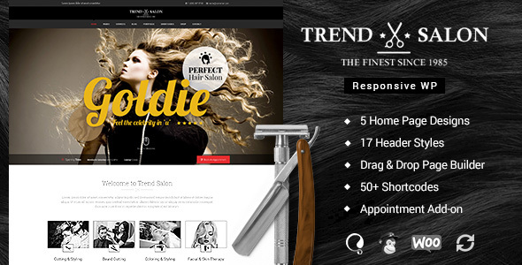 Trend Salon - Hairdresser WordPress