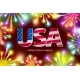 Shiny Firecrackers on Red and Blue Background - GraphicRiver Item for Sale