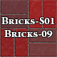 Hi-Res Texture Bricks-09 of Brick Textures - S01 - 3DOcean Item for Sale