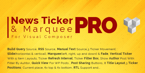 Pro News Ticker & Marquee for WPBakery Page Bilder : Display Post, Custom Post, RSS & WooCommerce Download
