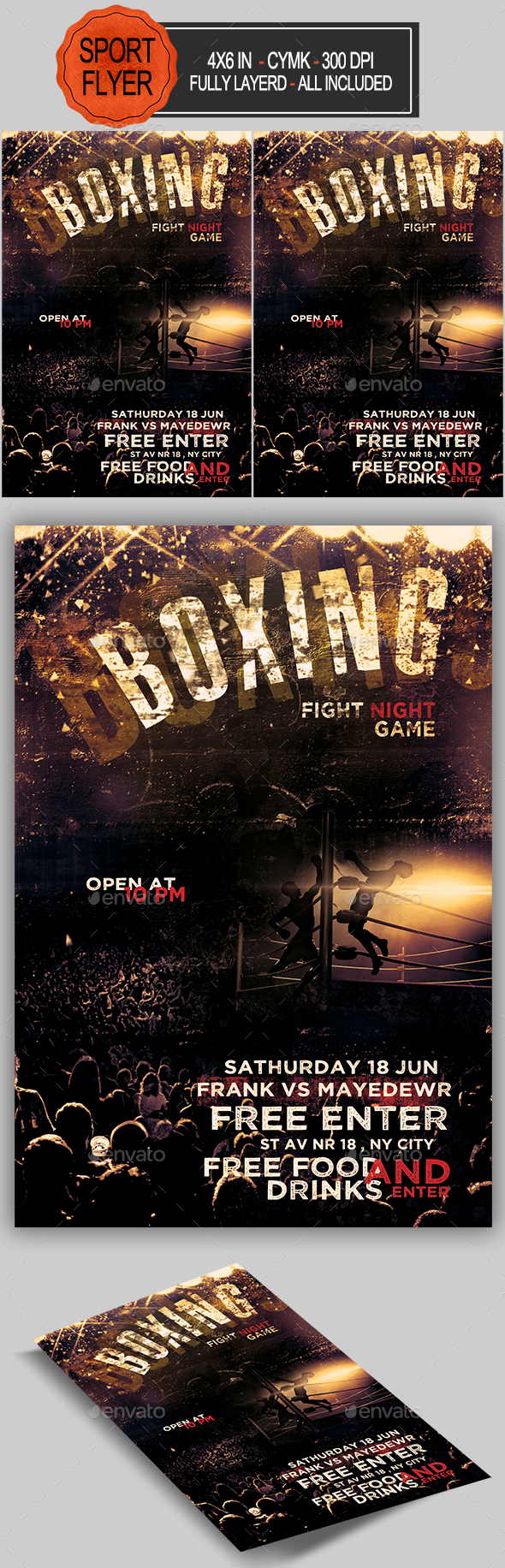 Boxing Poster Graphics, Designs & Templates from GraphicRiver