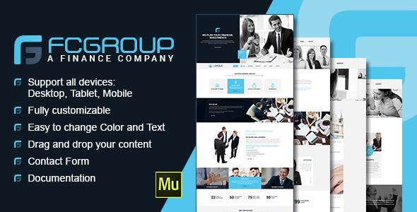 Finance Group - Multi Purpose Muse Theme