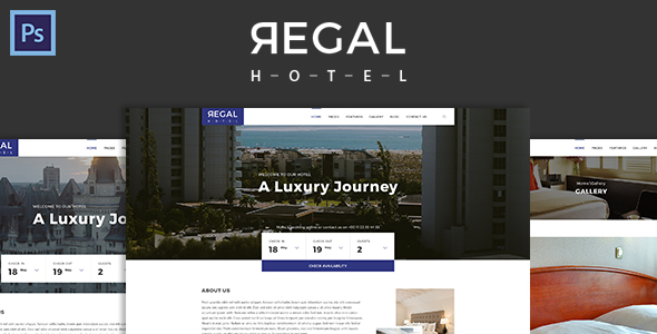 Regal - Hotel PSD Template