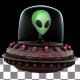 Alien in UFO - VideoHive Item for Sale