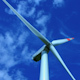 Wind Turbine Wheel Rising in The Blue Sky - VideoHive Item for Sale