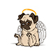 Pug Puppy Angel - GraphicRiver Item for Sale