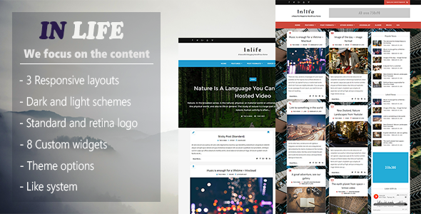 InLife - Simple & Flexible Blog/Magazine