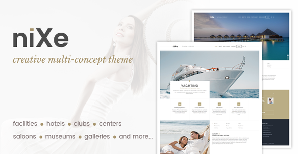 Nixe | Hotel, Travel and Holiday WordPress Theme