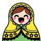 Kawaii Russian Nesting Doll - Matryoshka Figurine - GraphicRiver Item for Sale