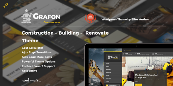 Grafon - Construction Building Renovate Wordpress Theme