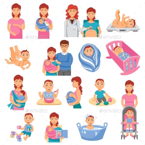 Parents Icons Set