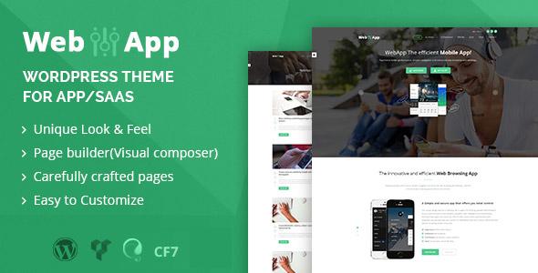 Webapp - App - Saas WordPress Theme