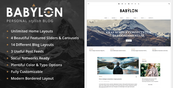 Babylon - Personal Stylish WP Blog