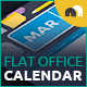 Flat Office Calendar - GraphicRiver Item for Sale