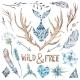Watercolor Tribal Design Elements Set - GraphicRiver Item for Sale
