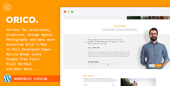 Orico - Creative & Architect Agency WP Theme