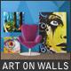 Art On Walls - Canvas Mockups - Frame Mockups - Wall Mockups  - GraphicRiver Item for Sale