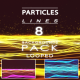 Particles Lines Wave Backgrounds Pack - VideoHive Item for Sale