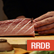 Japanese Chef Cuts Beef Sashimi - VideoHive Item for Sale