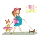 Pregnant Woman with Child and Dog - GraphicRiver Item for Sale