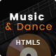 Music and Dance HTML5 Template - ThemeForest Item for Sale