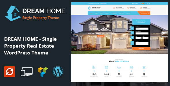 DREAM HOME- Single Property Real Estate WordPress Theme