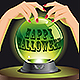 Halloween Background with Magic Sphere - GraphicRiver Item for Sale