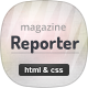 Reporter - News & Magazine HTML Template - ThemeForest Item for Sale