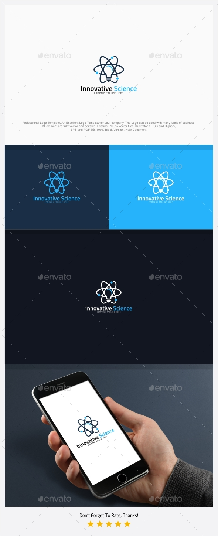 Innovative Science - Creative Atom Logo Template