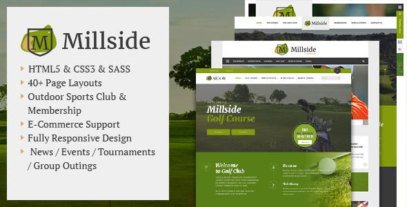 Millside - Golf and Sport Website template