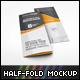 US Letter Half-Fold Brochure Mockup - GraphicRiver Item for Sale