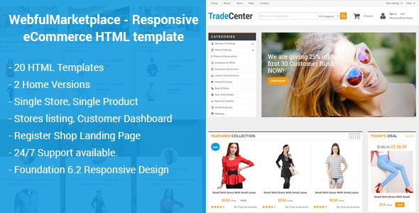 Marketplace - Responsive eCommerce HTML Template