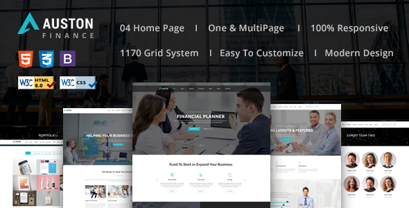 Auston – Finance, Corporate and Consulting Business HTML5 Template