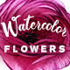 Watercolor Flowers – Hand Drawn Watercolor Floral Kit - GraphicRiver Item for Sale