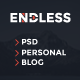 Endless - One Page Personal Blog PSD - ThemeForest Item for Sale