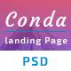 Conda App Landing Page PSD Template - ThemeForest Item for Sale