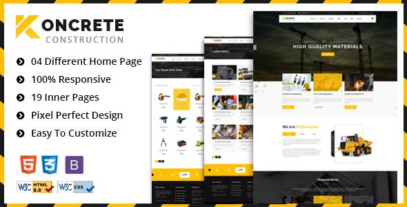 Koncrete - Construction & Building HTML5 Template