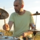Man Playing Drums On Nature - VideoHive Item for Sale