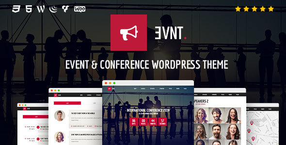 Evnt - Event and Conference WordPress Theme