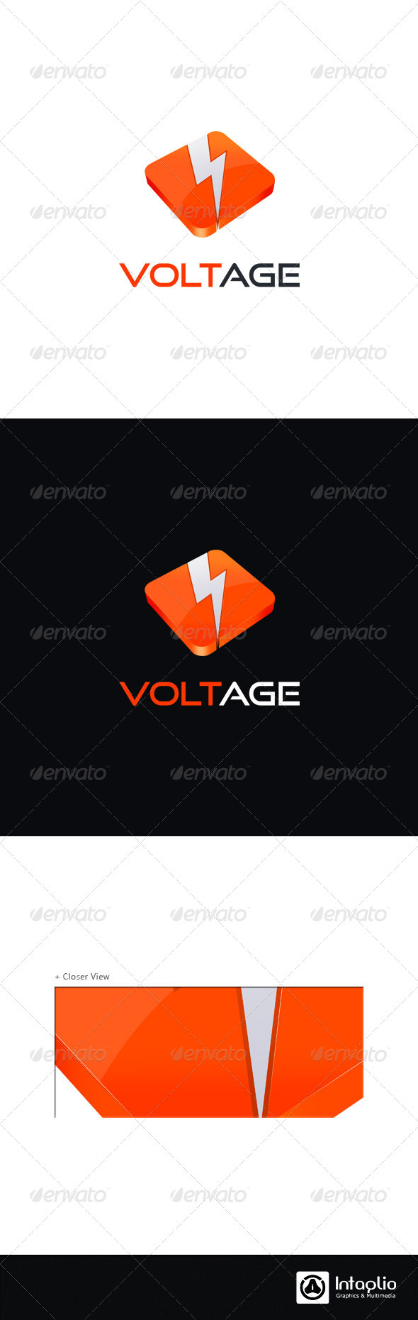 Creative 3D Logo - Voltage