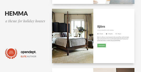 Hemma - A WordPress theme for Holiday Houses