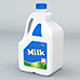 Plastic Milk Gallon - 3DOcean Item for Sale