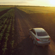 Car Appearing On The Rural Road - VideoHive Item for Sale